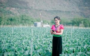 Nữ nông dân hưởng lợi nhờ ứng dụng công nghệ trong sản xuất nông nghiệp