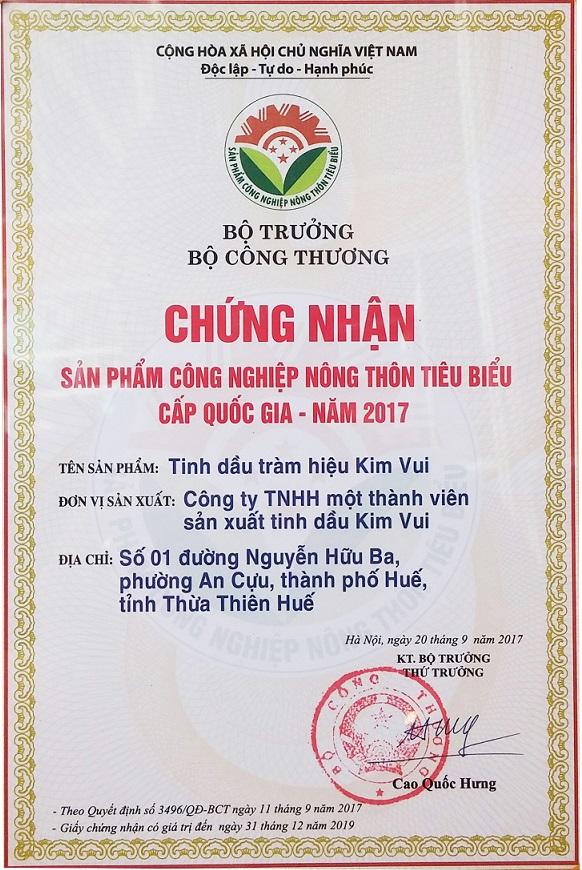Tinh dầu Kim Vui