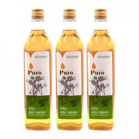 Combo 3 chai Dầu đậu nành nguyên chất 100% Puro 500ml