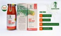 Mật hoa dừa Sokfarm 250gr đặc sản Trà Vinh ngọt dịu thơm ngon giàu khoáng chất vitamin chỉ số đường huyết thấp